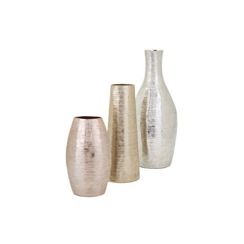 Maureen Silver Finish Aluminum Vase
