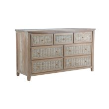 Dresser with 7 drawers, Available in Vintage Smoke Finsih Only.