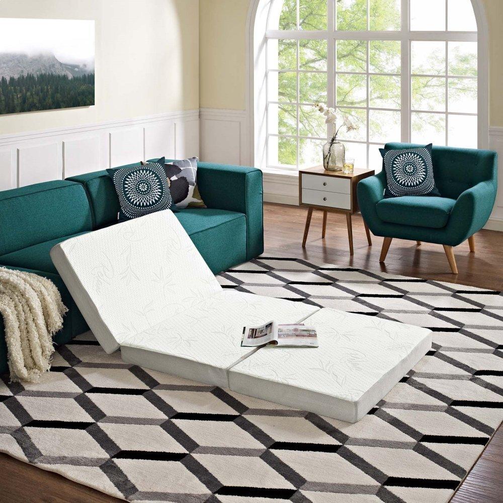 Relax 39 x 75 x 4 (Twin) Tri-Fold Mattress Topper