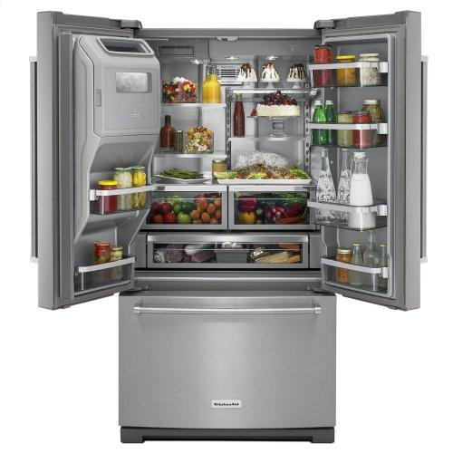 26.8 cu.ft. 36-Inch Width Standard Depth French Door Refrigerator, Exterior Ice/Water Platinum Interior - Stainless Steel