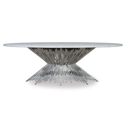 Pick Up Sticks Dining Table Base - Silve