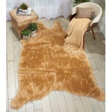 Fur Fl101 Beige 5' X 7' Throw Blanket