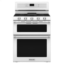 30-Inch 5 Burner Gas Double Oven Convection Range - White **NEW IN BOX**