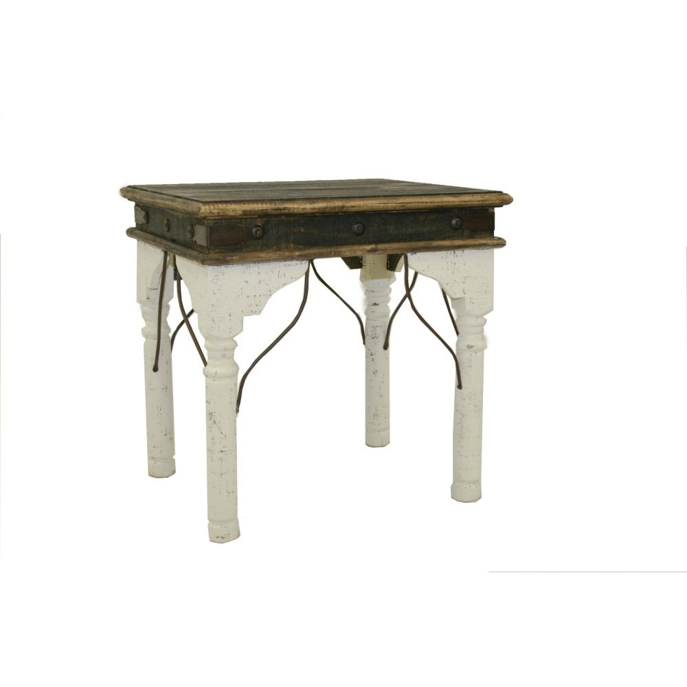White Indian End Table