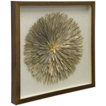 3 Dimensional Sculpture  Shadow Box with Glass  24in X 24in X 2in