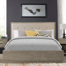 Zoey - King/california King Upholstered Panel Headboard - Urban Gray Finish