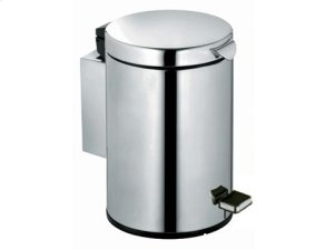 Sanitary waste bin - chrome-finish (polished stainless steel) Product Image