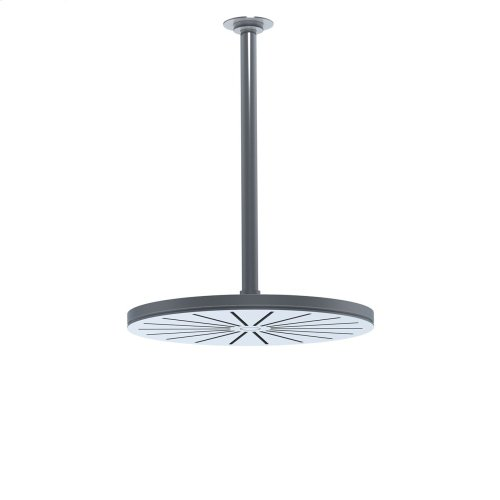 Head shower, round, ceiling-mounted, extended 200 mm - Grey