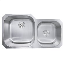 35 Inch Double Bowl Undermount Stainless Steel Kitchen Sink