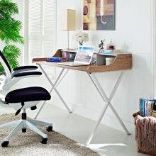 Bin Office Desk in Walnut