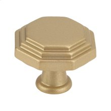 Octagon Cabinet Knob Matte Brass