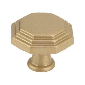 Octagon Cabinet Knob Matte Brass Product Image