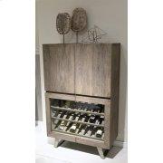 Waverly - Bar Cabinet - Sandblasted Gray Finish Product Image