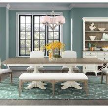 Myra - Double Pedestal Table Base - Natural/paperwhite Finish