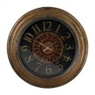 LARGE CLOCK WTH DISTRESSED HANDPAINTED FRAME Product Image