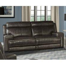 Glacier Graphite Power Sofa