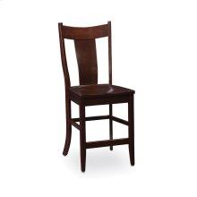 Arnold Stationary Barstool, Fabric Cushion Seat