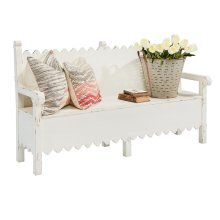 Jo's White Scallop Bench