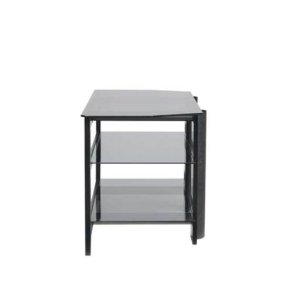 Black Video Stand Contemporary design and solid construction come together to create strength and beauty
