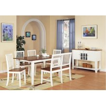 Branson Bench, White/Oak
