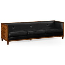 3 Seater Cosmo Sofa, Upholstered in Black Leather