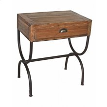 Pine 1-Drawer Side Table