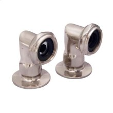 "2"" Faucet Elbows - Brushed Nickel"