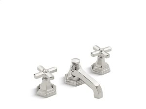 Sink Faucet, Low Spout Cross Handles - Nickel Silver Product Image