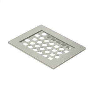 "Bathroom Basket HD Soap Dish 4-3/8""x 5-1/2"" - Brushed Nickel Product Image"