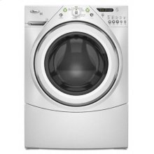 White-on-White Duet HT® 4.1cu ft Capacity Plus Front-Load Washer ENERGY STAR® Qualified (This is a Stock Photo, actual unit (s) appearance may contain cosmetic blemishes. Please call store if you would like actual pictures). This unit carries our 6 month warranty, MANUFACTURER WARRANTY and REBATE NOT VALID with this item. ISI 34406