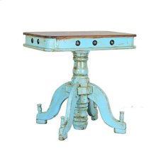 """Turquoise : 32"""" x 22"""" x 32"""" Francis Reception End Table"""