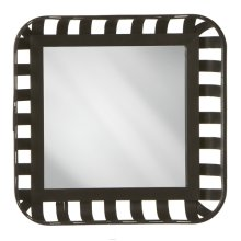 Square Basket Wall Mirror