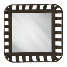 Square Basket Wall Mirror