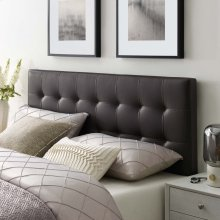 Lily Queen Upholstered Vinyl Headboard in Brown