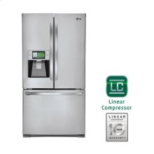 "Smart ThinQ Super-Capacity 3 Door French Door Refrigerator with 8"" Wi-Fi LCD Screen - Factory New Sealed Carton"