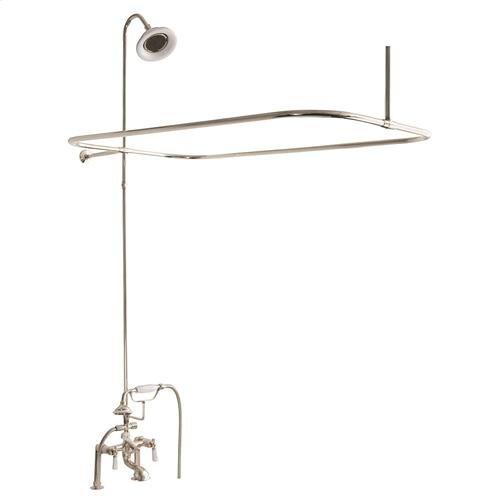 Tub/Shower Converto Unit - Elephant Spout, Shower Ring, Riser, Showerhead - Lever / Polished Nickel
