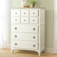 Myra - Five Drawer Chest - Natural/paperwhite Finish