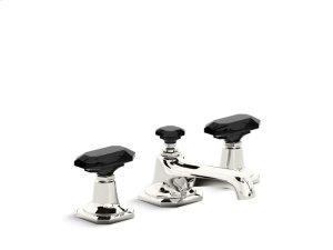 Sink Faucet, Black Crystal Handles - Nickel Silver Product Image