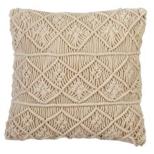 Macrame Diamond Block Pillow