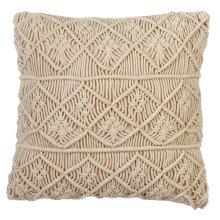 Macrame Diamond Block Pillow