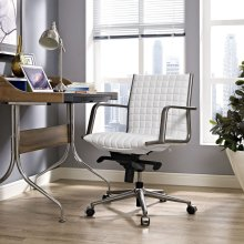 Pattern Office Chair in White