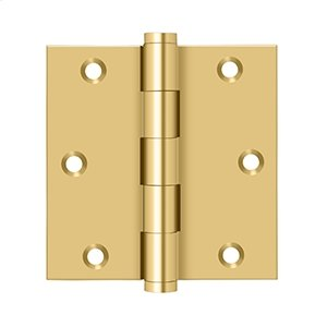 """3 1/2""""x 3 1/2"""" Square Hinge - PVD Polished Brass Product Image"""