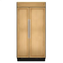 25.5 Cu. Ft. 42-Inch Width Built-In Side-by-Side Refrigerator, Overlay Panel-Ready - Panel Ready