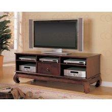 "TV STAND,DARK COFFEE/F 65""X24""X24-1/2""H"