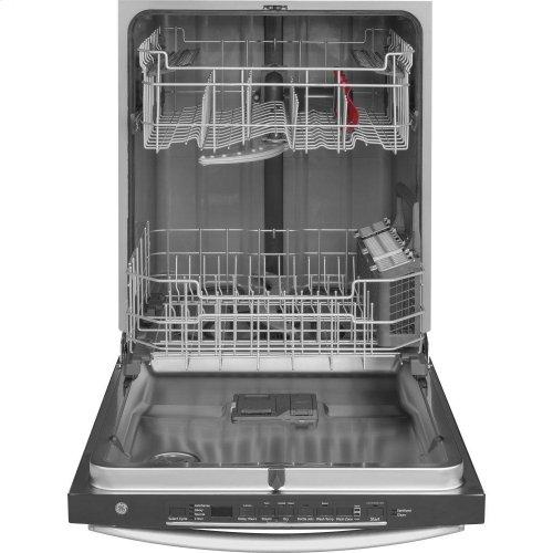 GE® Smart Hybrid Stainless Steel Interior Dishwasher with Hidden Controls