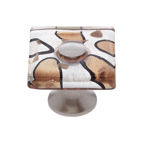 Satin Nickel 35 mm Silver Flat Square Knob