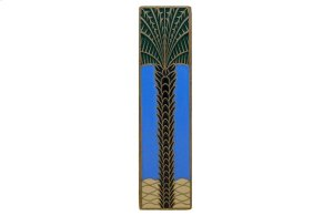 Royal Palm (Vertcal) - Antique Brass/Periwinkle Product Image
