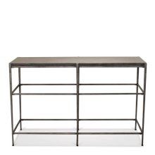 Lorraine Sofa Table Bluestone Travertine finish