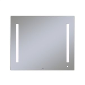 """Aio 35-1/8"""" X 29-7/8"""" X 1-1/2"""" Lighted Mirror With Lum Lighting At 4000 Kelvin Temperature (cool Light), Dimmable, Usb Charging Ports and Om Audio Product Image"""