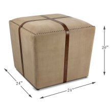 Strap Canvas & Leather Stool
